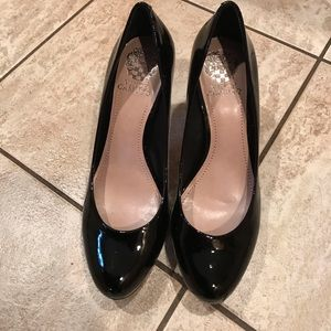 Vince Camuto Black Patent Leather Pumps
